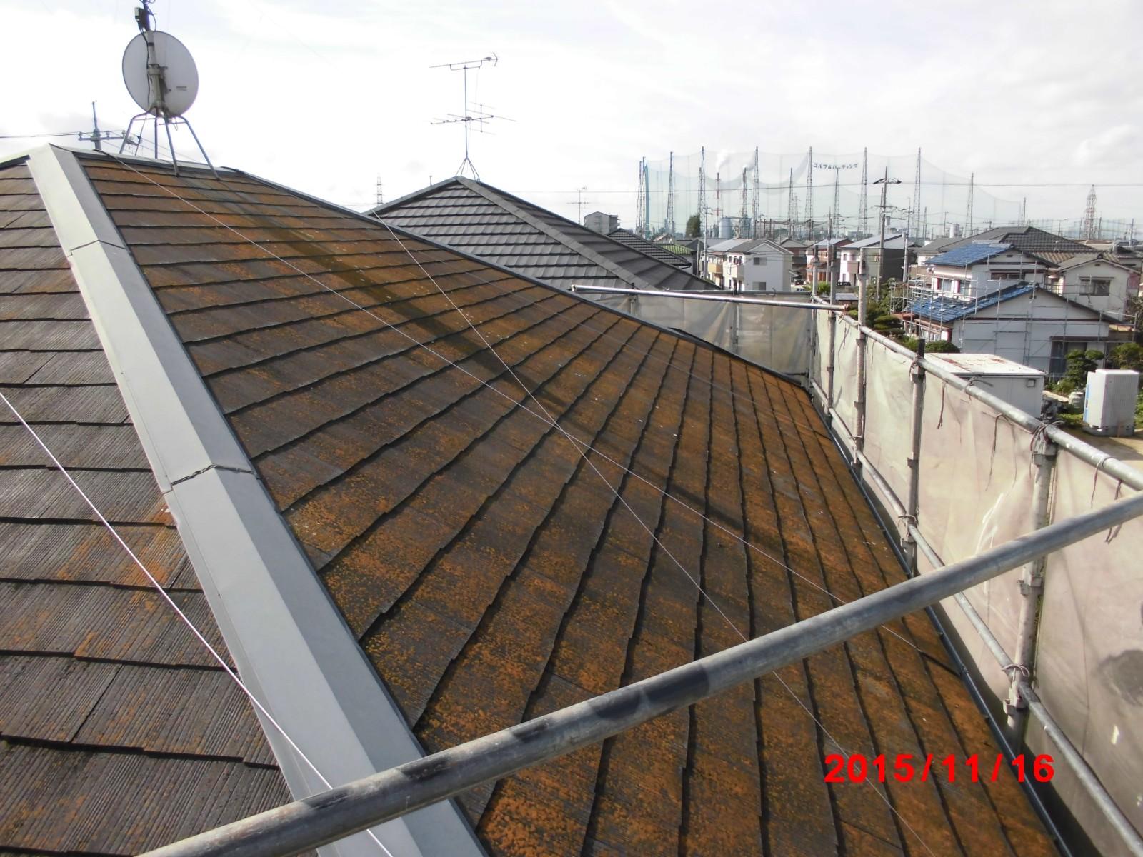 屋根はなかなか見え辛いものです。